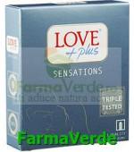 Love Plus Sensations Prezervative 3 bucati