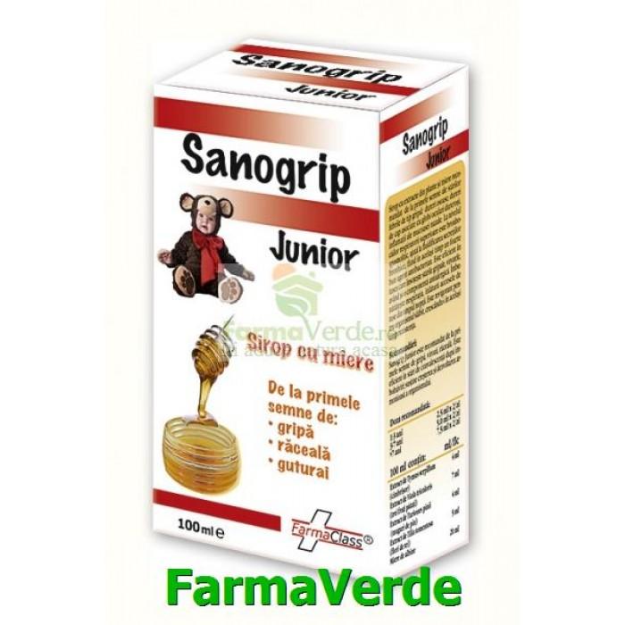Sanogrip Junior Sirop Copii Raceala si Gripa 100 ml FarmaClass