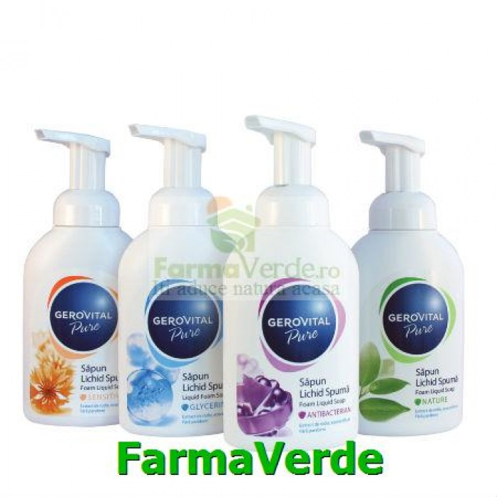 Sapun Lichid Pure Nature 300 ml Gerovital Pure Farmec