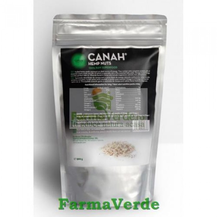 Seminte decorticate de canepa BIO 300 gr Canah