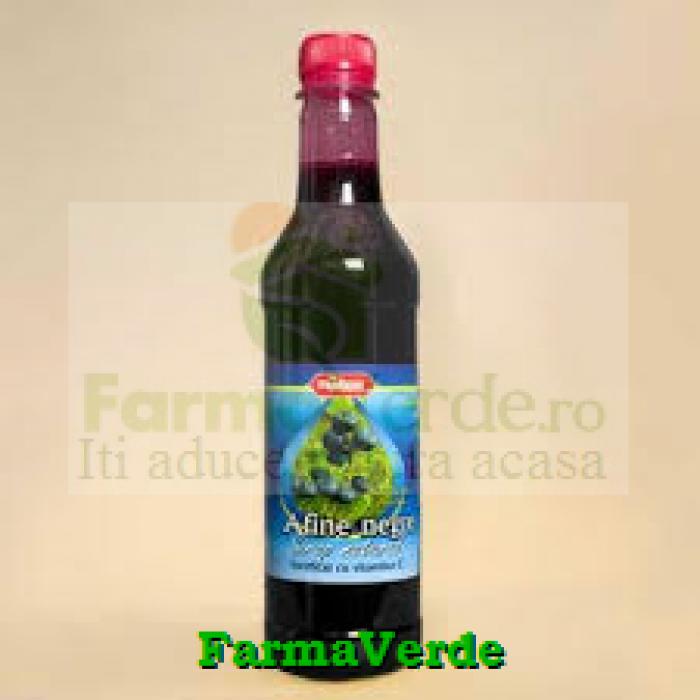 Sirop Pasteurizat Afine Negre 480 ml Natex Import Export