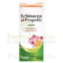 Sirop cu echinacea si propolis 100 ml Vitalia Pharma