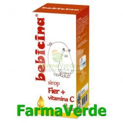 BEBICINA Fier + Vitamina C Sirop 100ml Hipocrate Omega Pharm