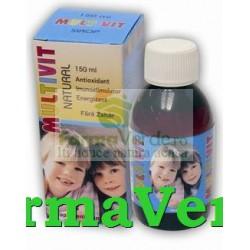 MULTIVIT Natural Sirop Fara Zahar 150ml Natural Pharmaceuticals
