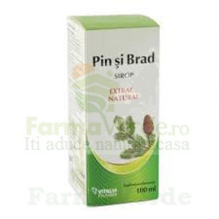Sirop natural din muguri de pin si brad 100 ml Vitalia Pharma