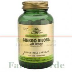 Solgar Ginkgo Biloba Extract din frunze 60 capsule
