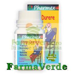 STOP DURERE Alunga Durerea cu Extracte Naturale 30 cpr Pharmex