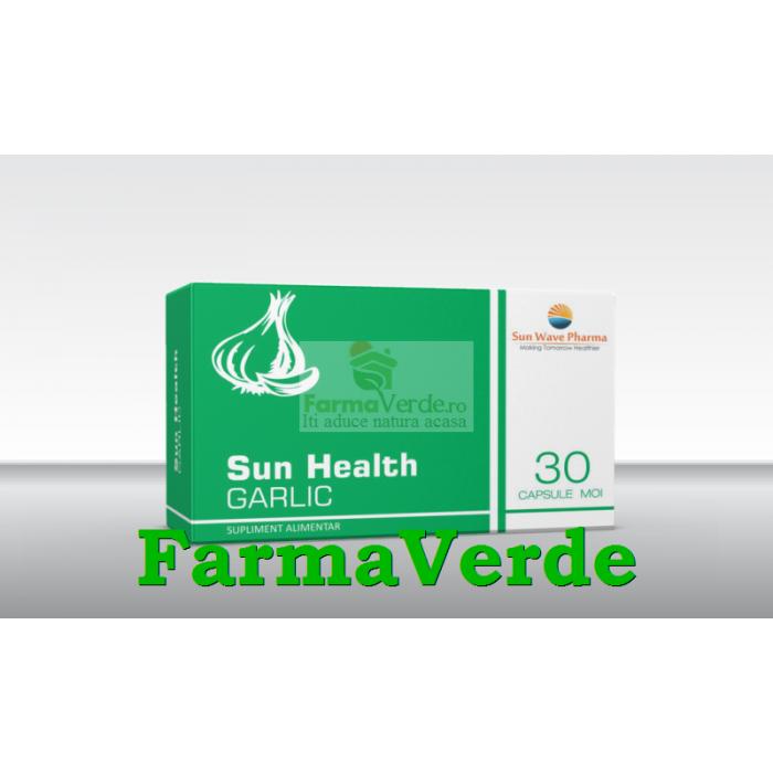 Sun Health Garlic Usturoi 30 capsule moi Sun Wave Pharma