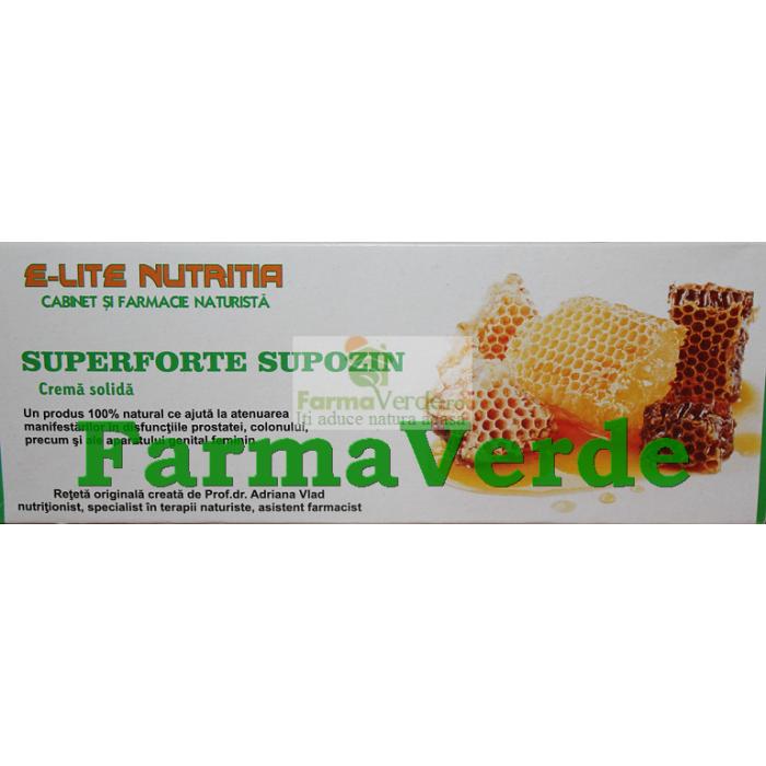 SUPOZIN SuperForte Supozin 20 supozitoare E-LITE NUTRITIA