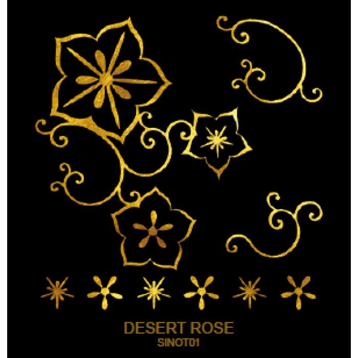 Tatuaj Aur DESERT ROSE AUR 24 K SinGold Italia Tattoos