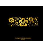 Tatuaj Aur FLOWER EXPLOSION AUR 24 K SinGold Italia Tattoos