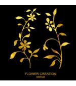 Tatuaj Aur FLOWER CREATION AUR 24 K SinGold Italia Tattoos