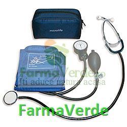 Trusa tensiometru aneroid cu stetoscop Microlife Bioexpert