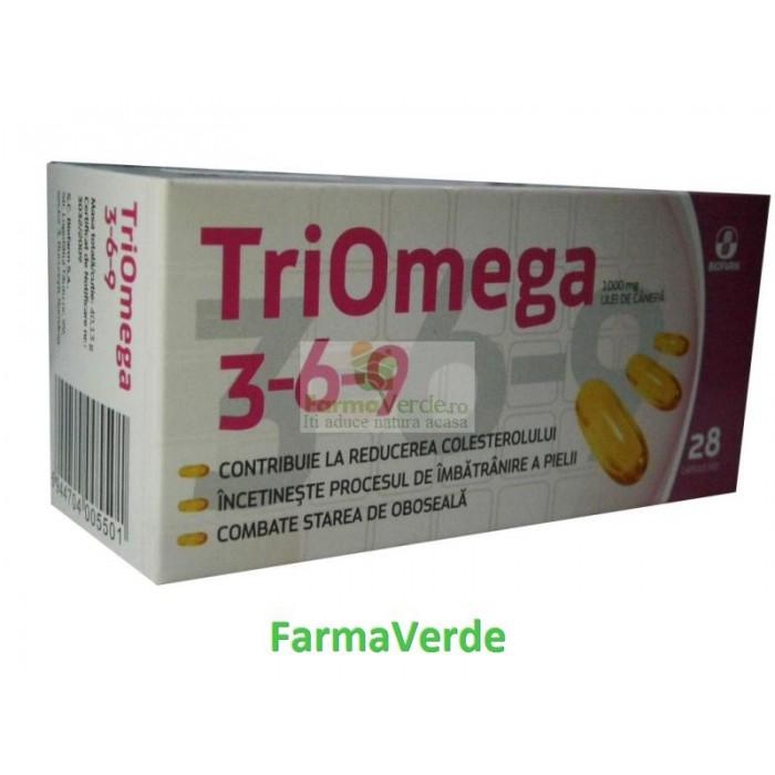 Biofarm TRIOMEGA 3-6-9 Control natural al colesterolului! 28 cps