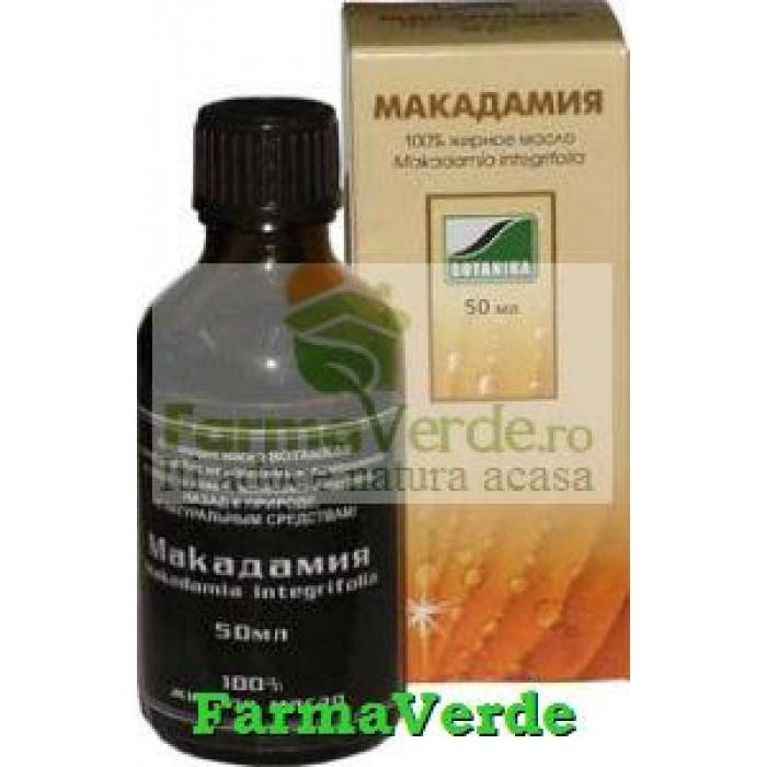 Ulei de macadamia 50 ml uz extern Cosmetica Verde