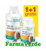 PROMO!! Ulei Seminte de In 90 + 30 capsule GRATIS!  Rotta Natura