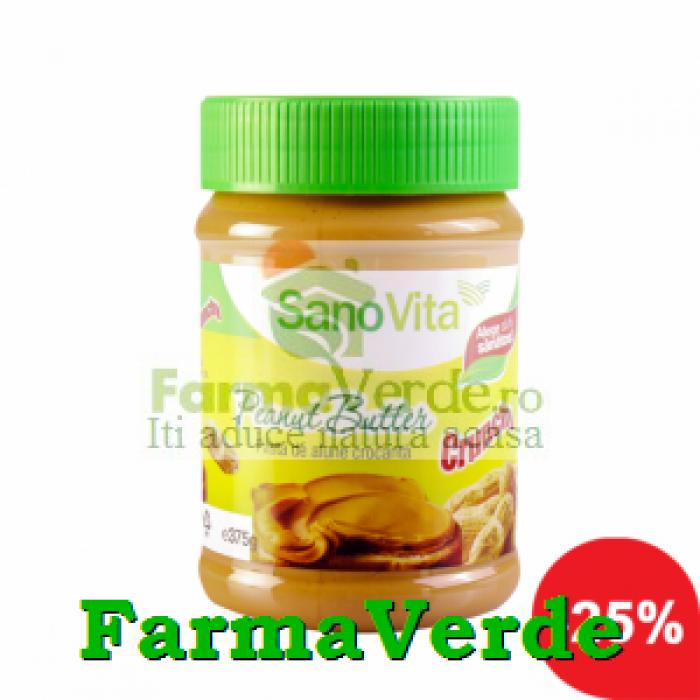 Unt de Alune Pasta de Alune Crocanta 375 gr SanoVita