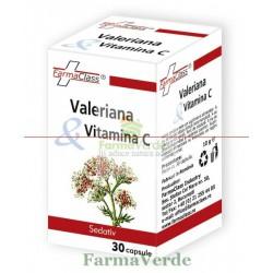 Valeriana + Vitamina C 30 cps FarmaClass