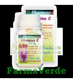 VITAMINA C 180 mg cu aroma de fructe Copii 40 cpr Pharmex