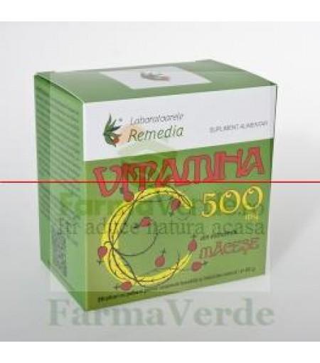 VITAMINA C 500 mg Macese 20 plicuri Remedia