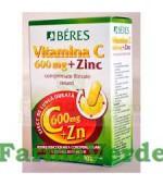 Beres Vitamina C 600mg+Zinc 30 comprimate filmate