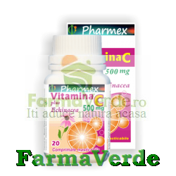 VITAMINA C 500 mg Plus ECHINACEA 20 cpr masticabile Pharmex