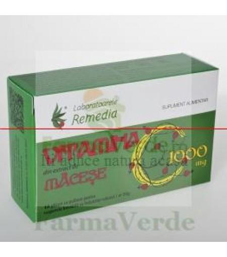 Vitamina C Naturala din Macese 1000 mg 10 Pliculete Remedia