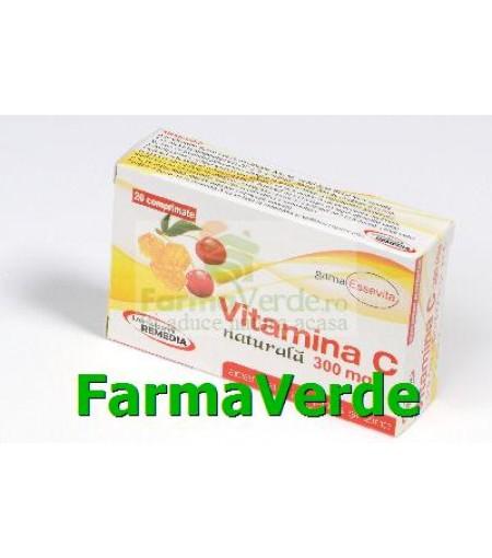 Vitamina C cu Propolis Zinc si Acerola 300 mg 20 cpr Remedia