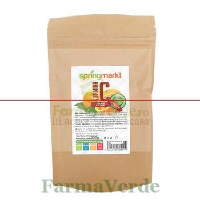 Vitamina C pulbere acid ascorbic 150 gr Springmarkt Adams Vision