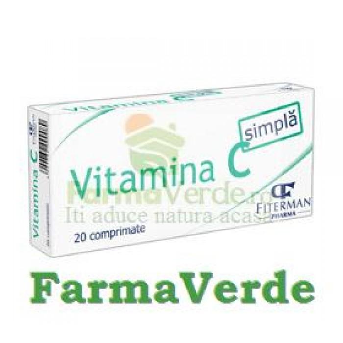 Vitamina C simpla 20 comprimate Fiterman Pharma