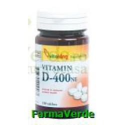 Vitamina D3 400UI 100 comprimate Vitaking