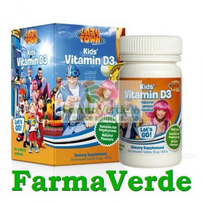 LazyTown Kids' Vitamin D 120 comprimate Lysi Saga Sanatate