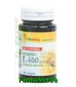 Vitamina E natural 400 UI 60 capsule gelatinoase Vitaking