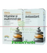 Promotie! Vitamine si multiminerale +Antioxidant 20 cpr Alevia