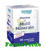 Vitamine si Multiminerale 30 cpr Ozone Labormed