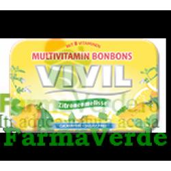 VIVIL Bomboane lamaie fara zahar cu 8 vitamine 50 gr