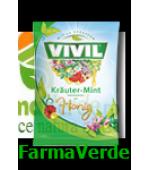 VIVIL Bomboane Plante naturale menta si miere 115gr