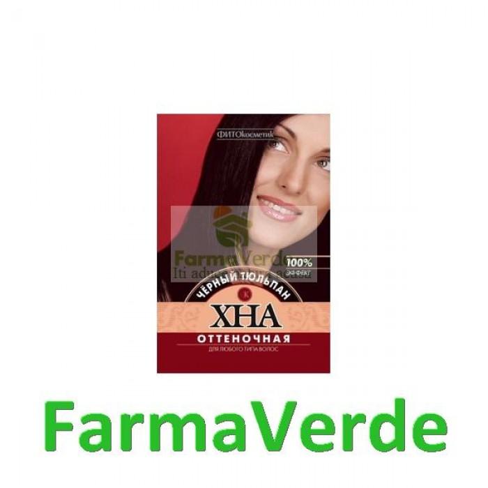 Vopsea vegetala henna LALEAUA NEAGRA 25gr  FP26 Henna Naturala
