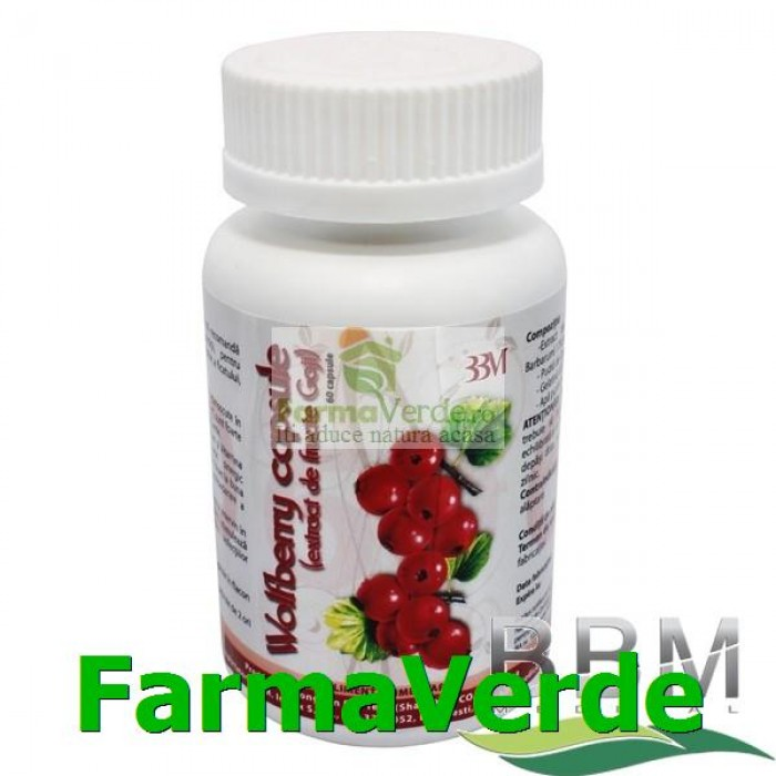 Wolfberry Extract de Fructe Goji 60 capsule BBM Medical