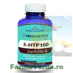 5-HTP 100 Zen Forte Hormonul Fericirii 120 capsule Herbagetica