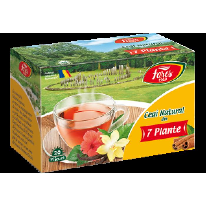 Ceai din 7 plante Ceaiurile Lumii 20 plicuri Fares