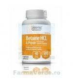 Betaine HCL si Pepsin Digestie 60 capsule Zenyth PHARMACEUTICALS