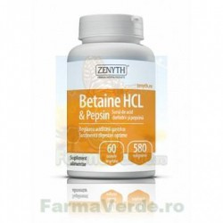 Betaine HCL si Pepsin Digestie 60 capsule Zenyth PHARMACEUTICALS