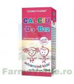 CALCIU D3 B12 Sirop Copii Advanced Kids 125 ml Cosmopharm