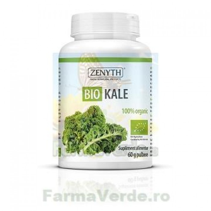 Varza de Kale o bomba cu vitamine și minerale Pulbere 60 gr Zenyth Pharmaceuticals
