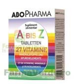 ABO- A la Z- 27 vitamine, minerale și microelemente 30 tablete Abo Pharma