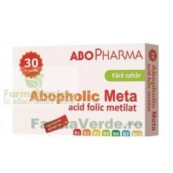 Acid Folic Metilat ABOPHOLIC META 400 cg Fara Zahar 30 tablete Abo Pharma