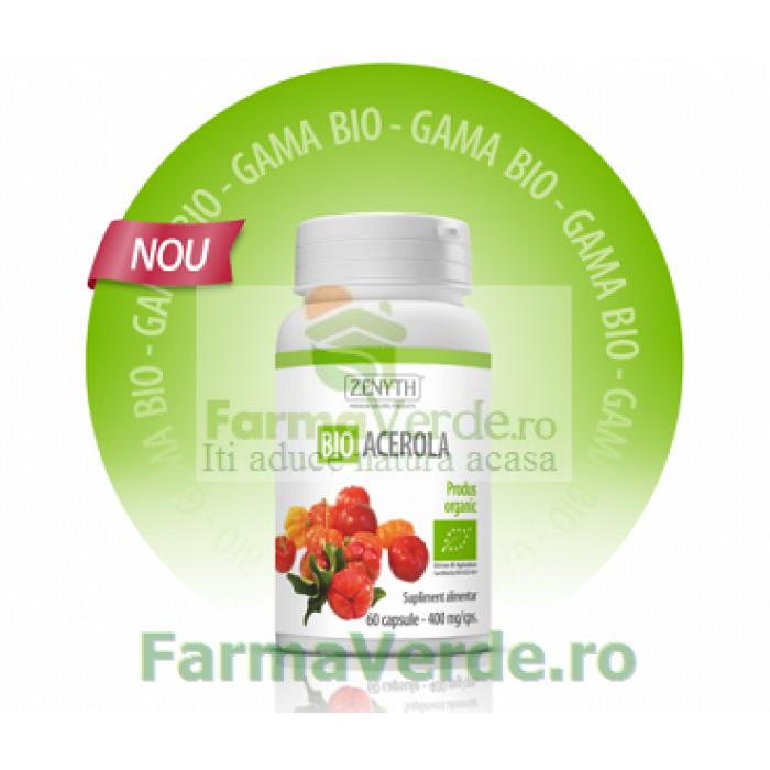 Acerola BIO doza ta zilnica de Vitamina C! 400 mg 60 capsule ZENYTH PHARMACEUTICALS