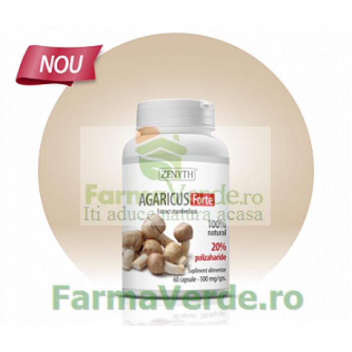 Agaricus Forte imunostimulator, antioxidant si protector cardiovascular 60 capsule ZENYTH PHARMACEUTICALS