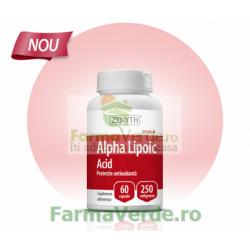 Alpha Lipoic Acid pentru protectie antioxidanta 60 capsule ZENYTH PHARMACEUTICALS